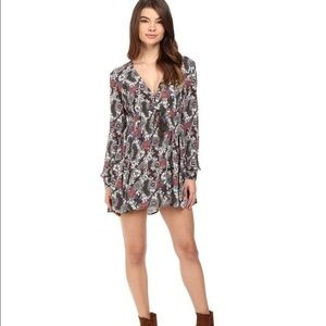 Free People Stealing Fire Mini Dress Size Medium
